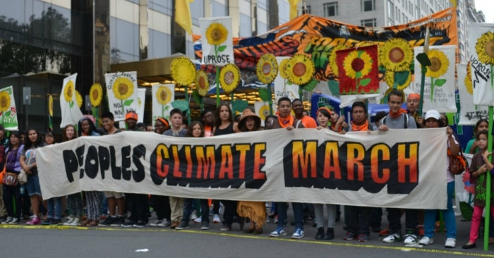 at the 2014 People's Climate March